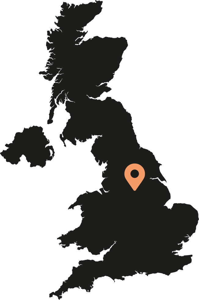 Map indicator showing The Velocity Hotel, Sheffield
